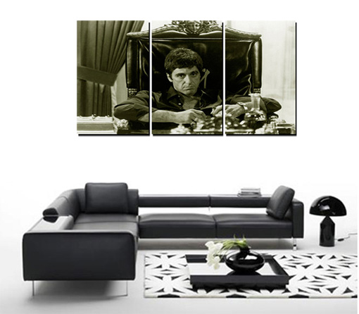 scarface canvas, scarface art, scarface prints, scarface picture, scarface artwork