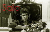 scarface canvas, gangster canvas art print, scarface canvas prints, gangster scarface wall art, scarface pop art, movie art uk