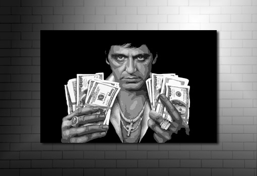 Scarface Canvas, scarface wall art, scarface movie art, scarface pop art, scarface canvas print