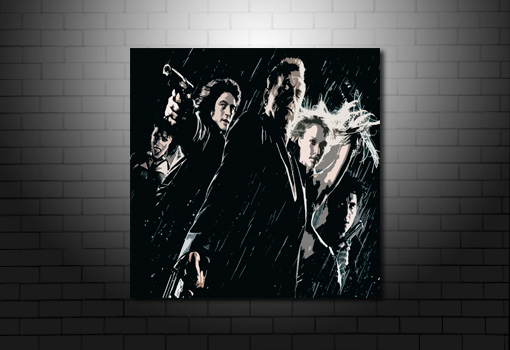 Sin City Canvas, sin city wall art, sin city movie print, sin city canvas print, movie wall art