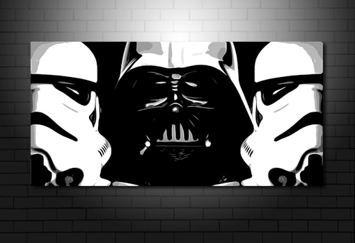 Star Wars canvas, star wars wall art, movie art uk, canvas art prints uk, star wars painting
