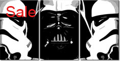 movie canvas art, star wars print, star wars artwork