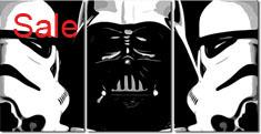 movie canvas art, star wars print, star wars artwork