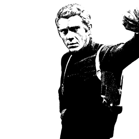 steve mcqueen canvas art, bullitt movie art