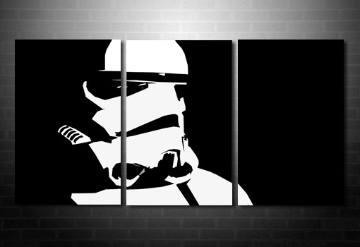Star Wars canvas wall art, stormtrooper wall art, stormtrooper canvas art print, star wars movie art, star wars canvas