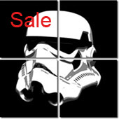 stormtrooper art, stormtrooper canvas print, star wars art print, starwar movie canvas