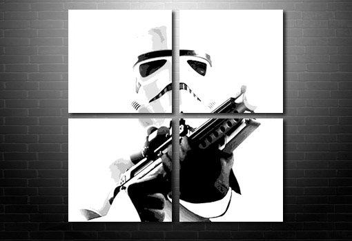 StarWars Canvas wall art, star wars print, stormtrooper canvas print, movie art prints, stormtrooper canvas picture