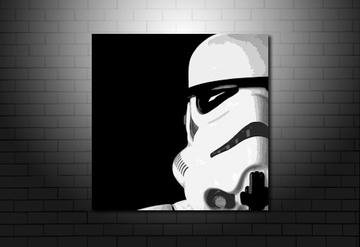 Stormtrooper canvas, star wars canvas, star wars movie print, stormtrooper wall art, movie wall art