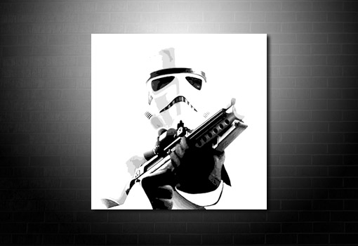StarWars Canvas Print, movie art, movie canvas art, starwars canvas, stormtrooper canvas art