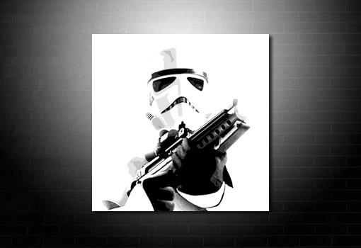 StarWars Canvas Print, movie art, movie canvas art, starwars canvas, stormtrooper canvas art