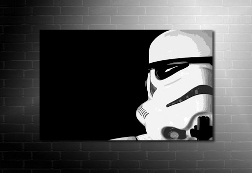 Stormtrooper canvas art, Stormtrooper canvas, star wars movie print, star wars canvas print, stormtrooper wall art