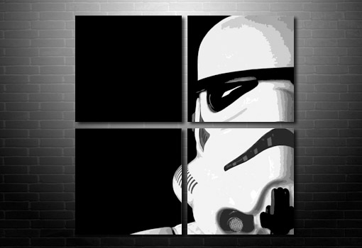 Stormtrooper wall art, Stormtrooper canvas, star wars canvas, star wars movie print, star wars canvas print