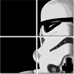 stormtrooper canvas art, star wars movie art, stormtrooper pop art