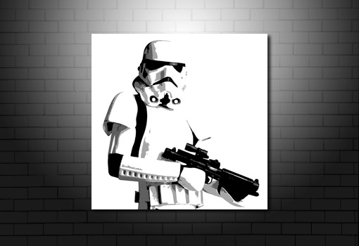 stormtrooper wall art, stormtrooper canvas art print, star wars movie art, star wars canvas, star wars print
