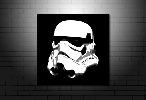 Stormtrooper Canvas Art, stormtrooper wall art, stormtrooper helmet canvas, stormtrooper pop art, star wars art
