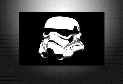 Stormtrooper Canvas Art, stormtrooper wall art, star wars movie art, star wars canvas, movie art uk