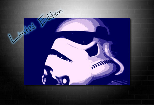 Stormtrooper Canvas art print, star wars movie art, star wars canvas art, star wars print, movie wall art