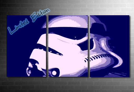 Stormtrooper Canvas wall art, star wars movie art, star wars canvas art, movie wall art, star wars canvas painting