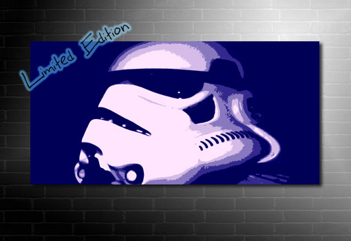 Stormtrooper Canvas art, star wars canvas art, star wars print, movie wall art, star wars canvas painting