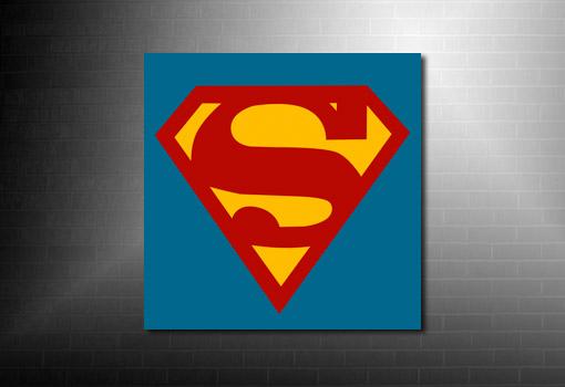 Superman Canvas print, superman logo canvas, superman wall art, superman canvas, superman movie art