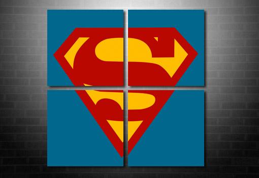 Superman canvas art, superman movie art, superman canvas, superman logo canvas, superman wall art