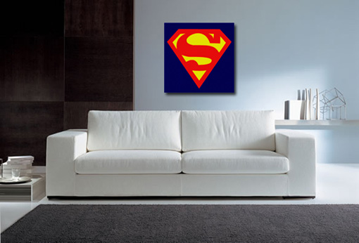 superman canvas print, superman wall art