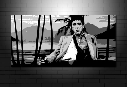 scarface movie art, al pacino movie canvas art, al pacino canvas, scarface canvas, scarface wall art