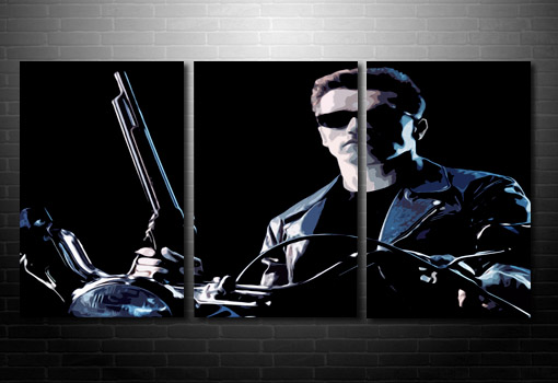 Terminator Canvas wall art, movie canvas uk, terminator print, terminator canvas artwork