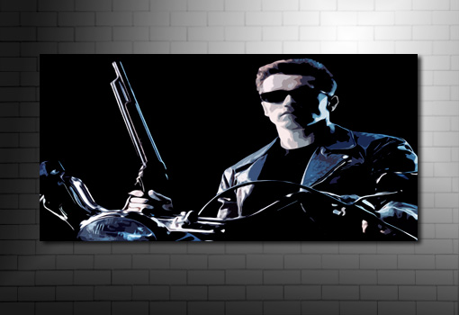 Terminator Canvas Print canvas art, terminator wall art, movie canvas uk, terminator print, terminator canvas artwork