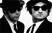blues brothers canvas art print, the blues brothers canvas art, blues brothers canvas print, blues brothers gliclee print, the blues brothers wall art