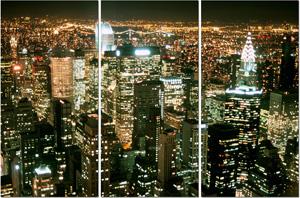 new york cityscape, new york canvas art print
