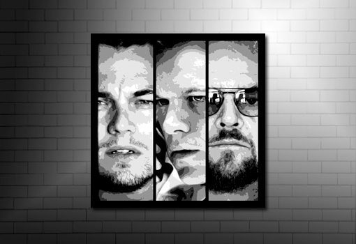 the departed movie canvas, the departed canvas art, the departed canvas print, matt damon canvas