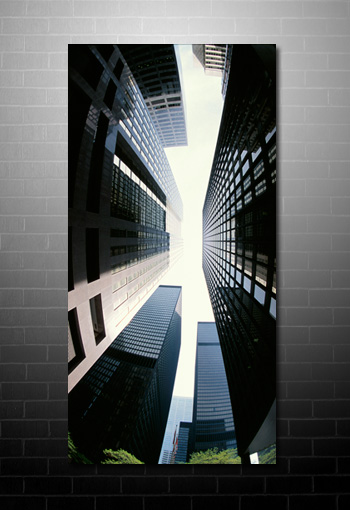 skyscraper canvas art, new york canvas