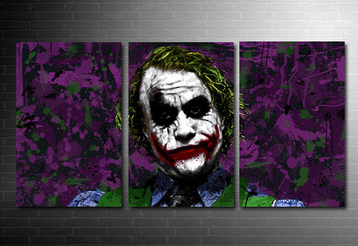 the joker canvas painting, the joker movie wall art, the joker canvas art print