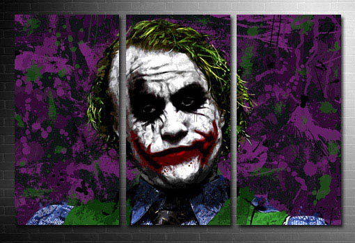 the joker movie painting, the joker canvas art, the joker movie print, the joker canvas wall art, dc comics canvas