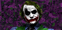 the joker canvas wall art, heath ledger movie art