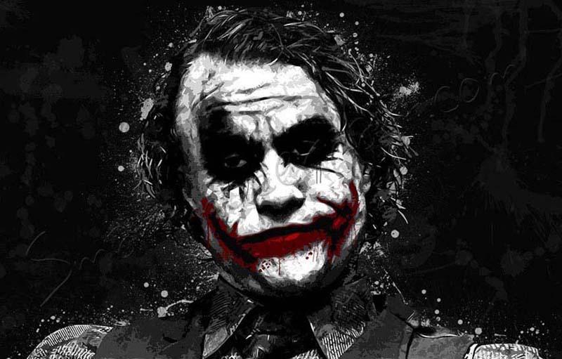 the joker canvas art