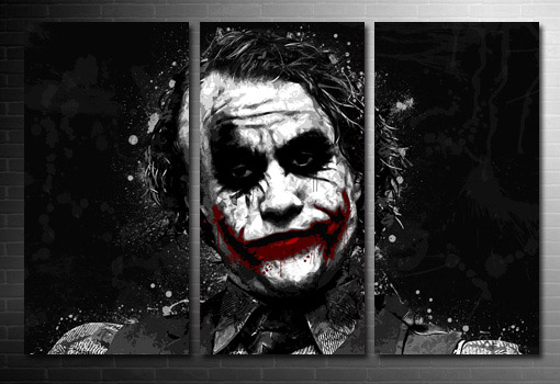 batman canvas art print, the joker canvas wall art, batman movie print