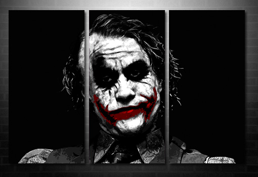 batman movie canvas art, the joker canvas wall art, the joker canvas art print