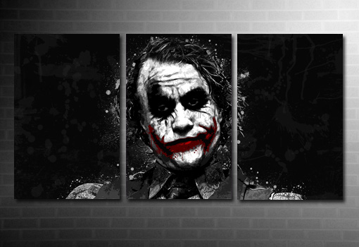 the joker movie canvas, the joker wall art, batman canvas art
