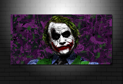 the joker movie canvas, heath ledger canvas art, batman canvas print