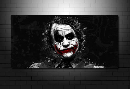 heath ledger movie art, the joker canvas art print, batman canvas wall art, batman canvas print