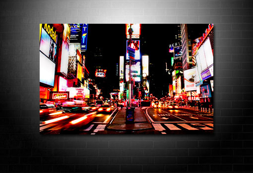 times square canvas art print, new york canvas art