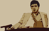 scarface pop art canvas print, tony montana