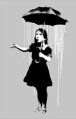 banksy unbrella girl canvas art, banksy umbrella girl wall art, banksy canvas art, banksy canvas print, cheap banksy art uk