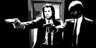 pulp fiction canvas art print, pulp fiction canvas art, pulp fiction canvas print, pulp fiction gliclee print, vincent and jules wall art