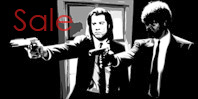 pulp fiction canvas art print, pulp fiction canvas art, pulp fiction canvas print, pulp fiction gliclee print, vincent and jules wall art, canvas art prints uk