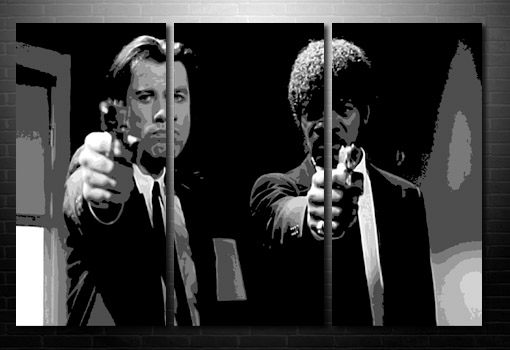 Pulp Fiction Wall Art, pulp fiction art print, pulp fiction movie print, pulp fiction print, movie canvas