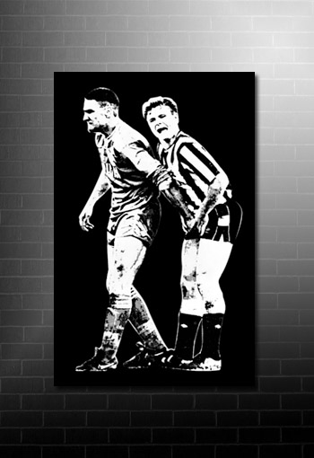 Vinnie Jones Football Canvas, Gazza Canvas Print, Football Canvas Art