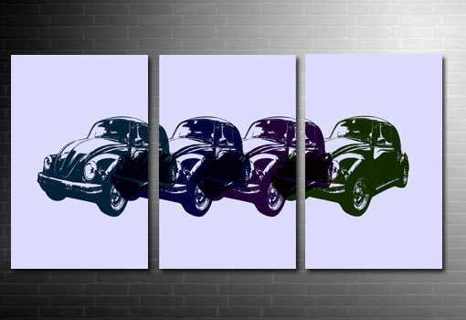 vw beetle canvas art, vw beetle canvas pop art, vw beetle canvas art print
